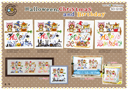 Borduurpakket Halloween, Christmas & Birthday - The Stitch Company