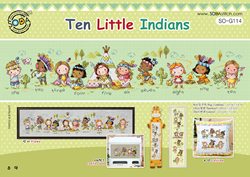 Borduurpakket Ten Little Indians - The Stitch Company
