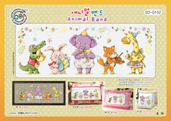 Borduurpakket Animal Band - The Stitch Company