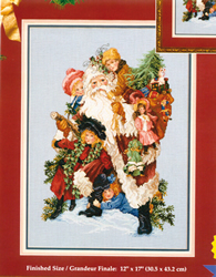 Borduurpatroon Santa & Friends - Vermillion Stitchery