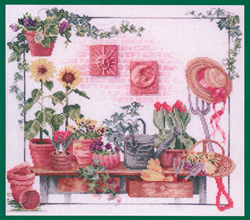 Borduurpatroon Celestial Garden Work Bench - Vermillion Stitchery