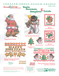 Borduurpatroon Sweet & Spicy Christmas - Vermillion Stitchery