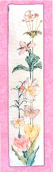 Borduurpatroon Floral Bell Pull - Vermillion Stitchery