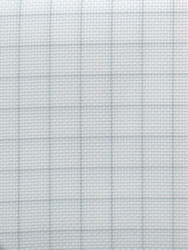 Stoffen Easy Count Aida 14 ct, White 50x55 cm - Zweigart