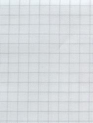 Stoffen Easy Count Aida 20 ct, White 50x55 cm - Zweigart