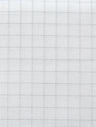 Stoffen Easy Count Aida 18 ct, White 50x55 cm - Zweigart