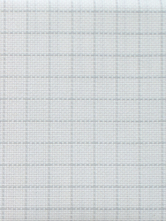 Fabric Easy Count Aida 16 ct, White 50x55 cm - Zweigart