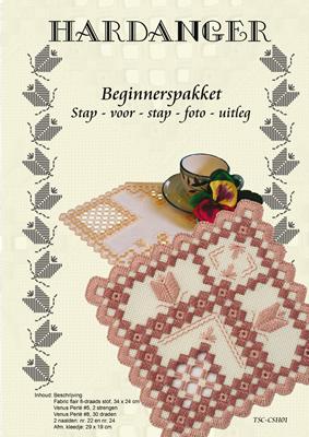Hardanger Beginnerspakket 1 Roze - The Stitch Company