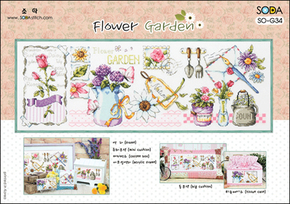 Borduurpakket Flower Garden - The Stitch Company