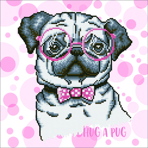 Diamond Dotz Hug A Pug - Needleart World
