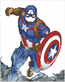 Marvel Avengers Cap in Action - Camelot Dotz